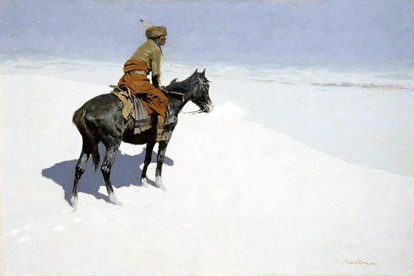 The Scout: Friends or Foes? - Frederic Remington