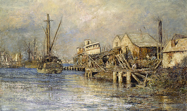The old ship, Williamstown - Frederick McCubbin