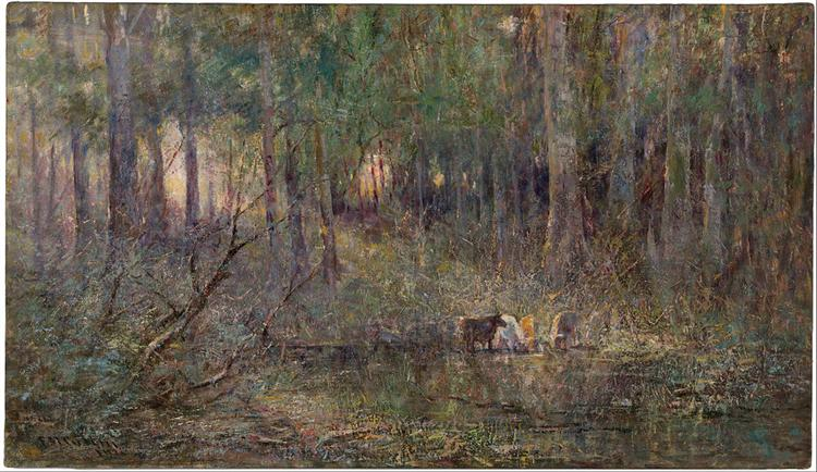 Violet and gold, 1911 - Frederick McCubbin