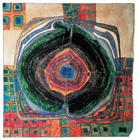 227  A Raindrop Which Falls into the City - Friedensreich Hundertwasser
