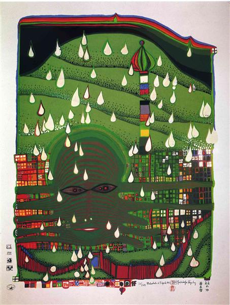 690 Green Power, 1972 - Friedensreich Hundertwasser