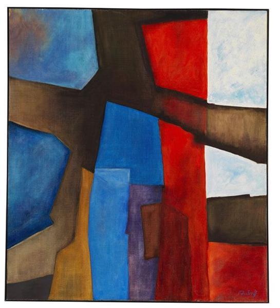 Rot-vertikal, 1967 - Fritz Winter