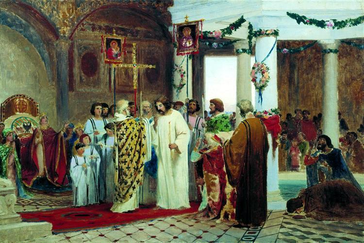 Baptism of Prince Vladimir, 1883 - Fyodor Bronnikov