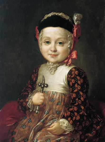 Portrait of Count Alexey Bobrinsky as a Child, c.1760 - Fyodor Rokotov