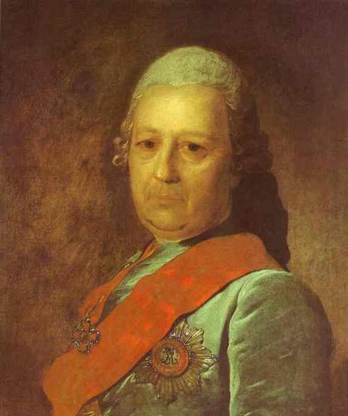 Portrait of A.M.Obreskov, 1777 - Федір Рокотов