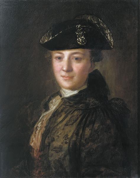 Portrait of an Unknown Man in a Cocked Hat, c.1770 - Fyodor Rokotov