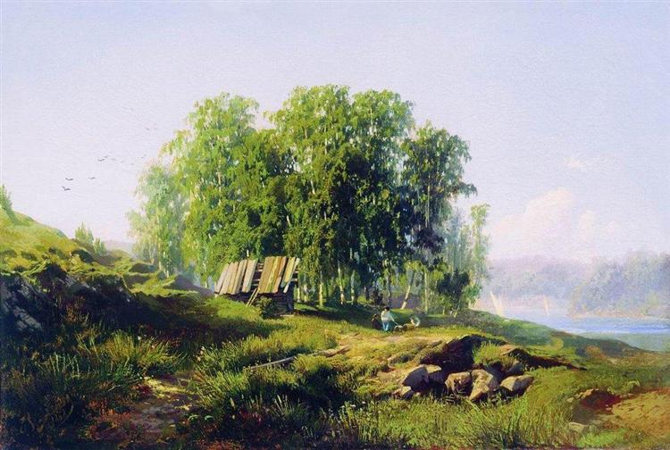 In the Vicinity of St. Petersburg, 1868 - Fyodor Vasilyev