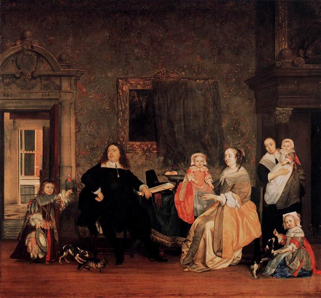 The Family of Jan Jacobsz Hinlopen, c.1662 - Gabriel Metsu