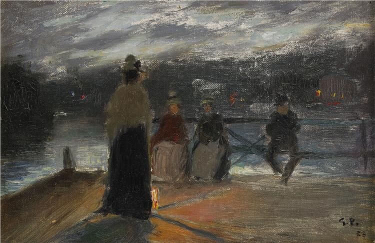On the Bridge, 1888 - Georg Pauli