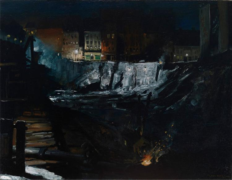 Excavation at Night, 1908 - George Bellows