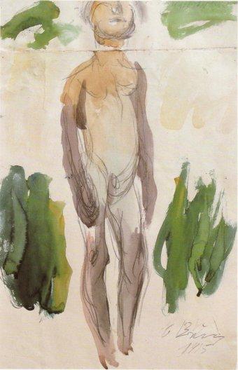 Naked man, 1915