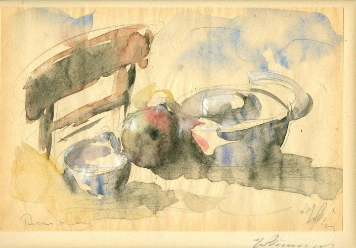 Still life with Pomegranate and Pans, 1931