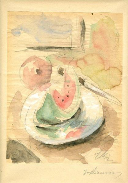 Still Life with Watermelon, 1929 - 1932 - George Bouzianis