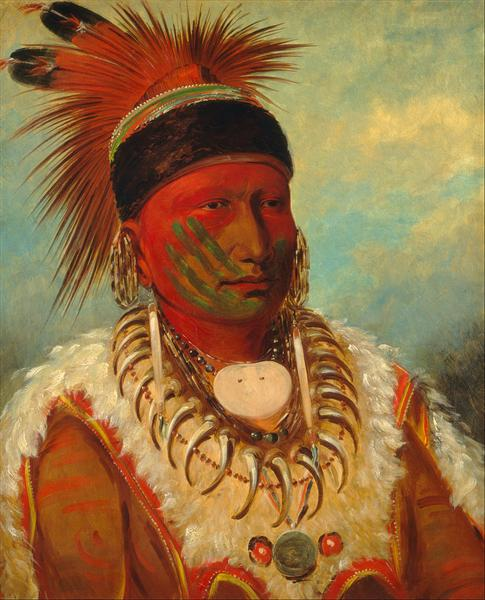 The White Cloud, Head Chief of the Iowa, 1845 - George Catlin
