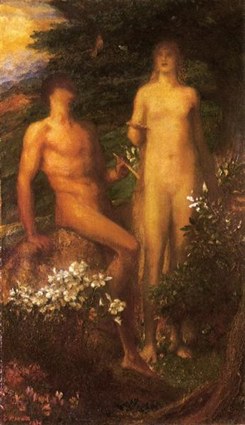 Adam and Eve before the Temptation - George Frederick Watts