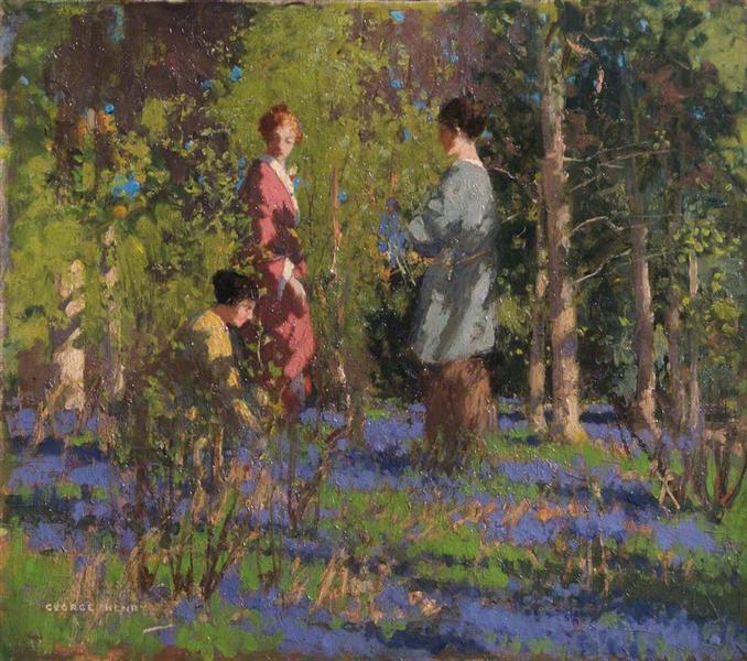 Picking Bluebells - George Henry