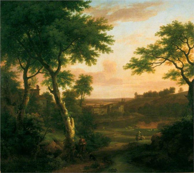 The Ruins of Rievaulx Abbey, Yorkshire, 1753 - George Lambert