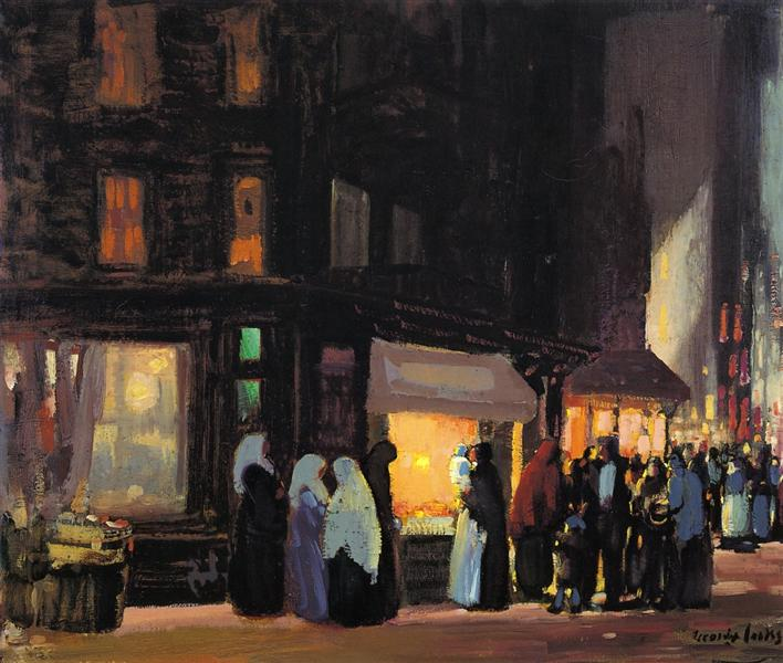 Bleeker and Carmine Streets - George Luks