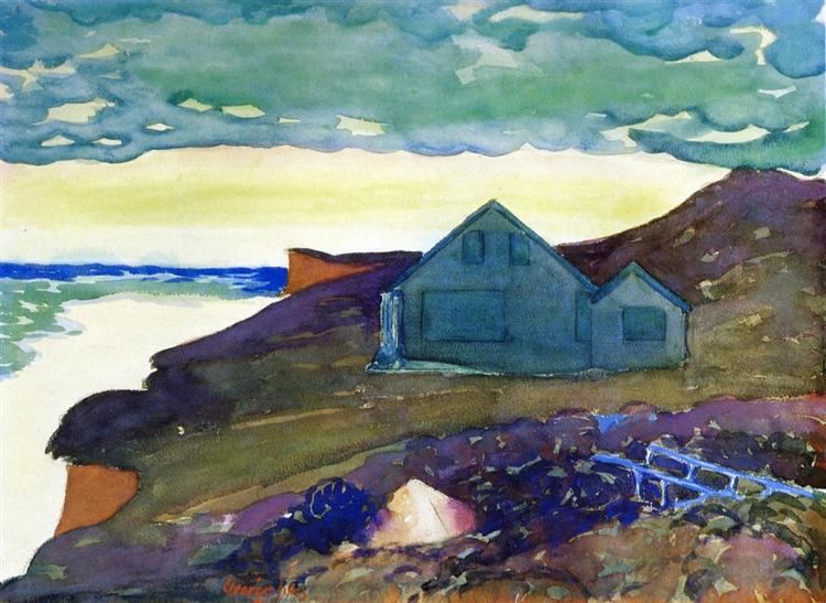 House on the Point, c.1928 - George Luks