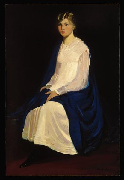 Portrait of a Young Girl (Antoinette Kraushaar), c.1917 - George Luks