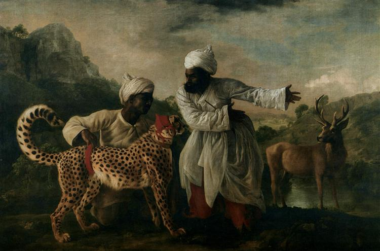 Cheetah with two Indian servants and a deer, 1765 - George Stubbs