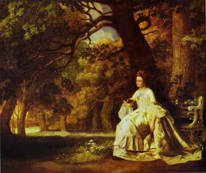 Lady Reading in a Wooded Park, 1768 - 1770 - George Stubbs