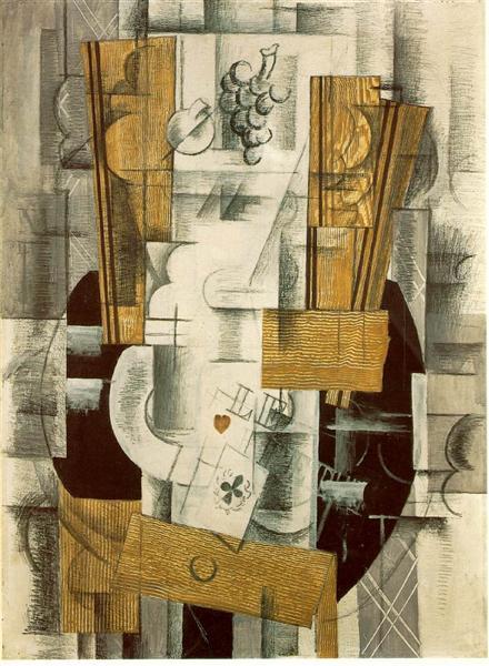 Фруктова ваза, 1913 - Жорж Брак