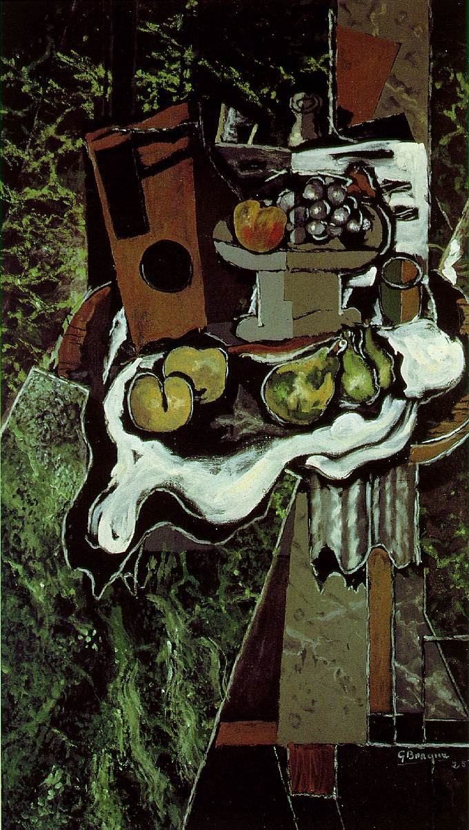 Fruit on a Tablecloth with a Fruitdish, 1925