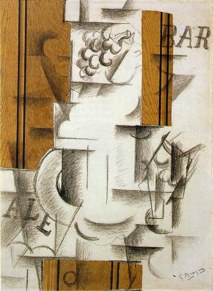 Fruitdish and Glass, 1912 - Georges Braque