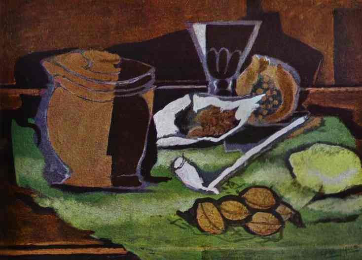 Lemon, walnuts and pot with tobacco, c.1929 - Georges Braque