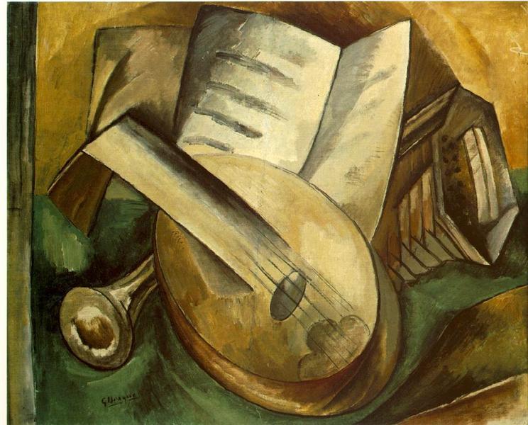Музыкальные инструменты, 1908 - Жорж Брак