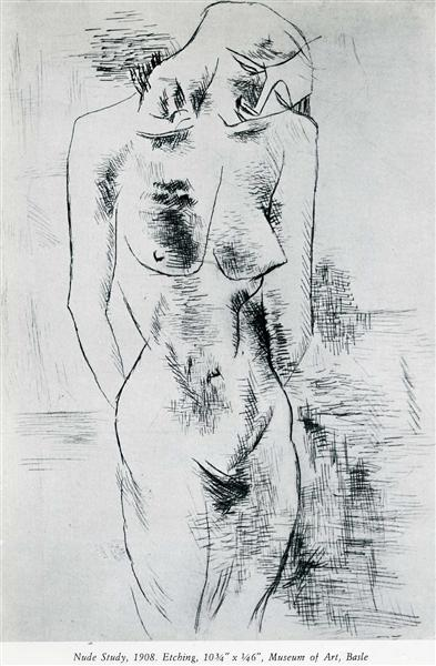 Nude study, 1908 - Georges Braque