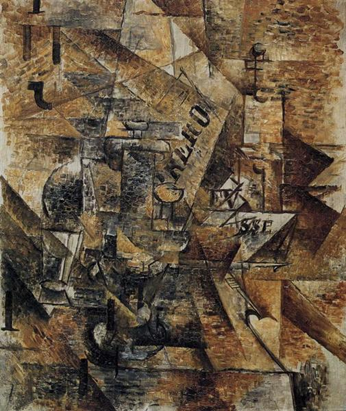 Still Life with a Pair of Banderillas, 1911 - Georges Braque