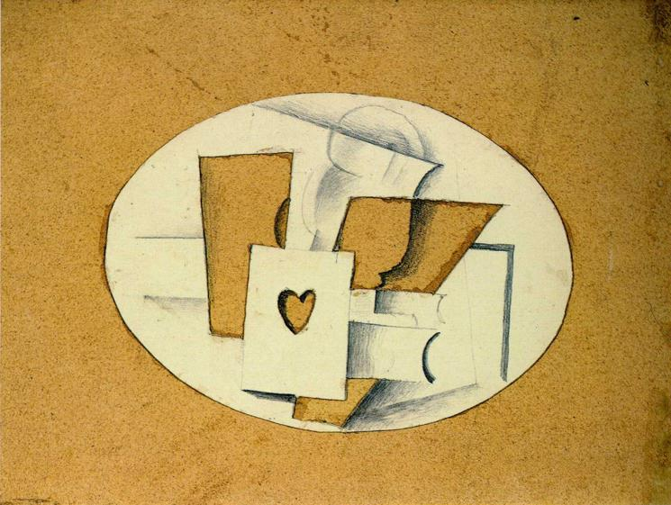 Still Life with Ace of Hearts, 1914 - Georges Braque