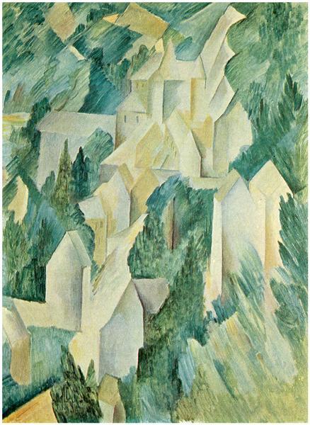 The Castle in La Roche Guyon, 1909 - Georges Braque