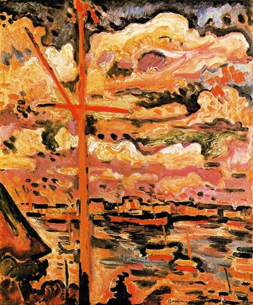 The Port of Antwerp: the Mast, 1906 - Georges Braque