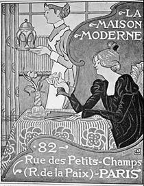 Poster for La Maison Moderne, Paris - Жорж Леммен