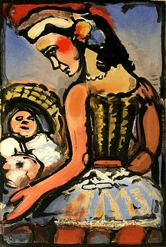 Dors mon amour (Sleep my love), 1935 - Georges Rouault