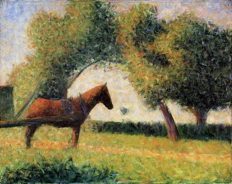 Horse and cart, 1882 - 1884 - Georges Seurat