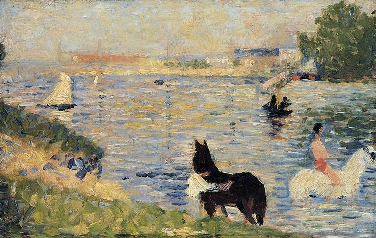 Horses in the Water, 1883 - Georges Seurat