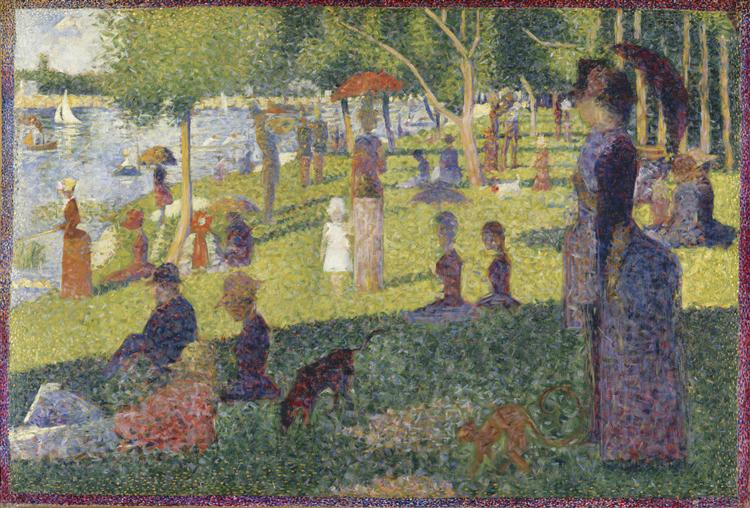 Study for A Sunday on La Grande Jatte, 1884 - Georges Seurat