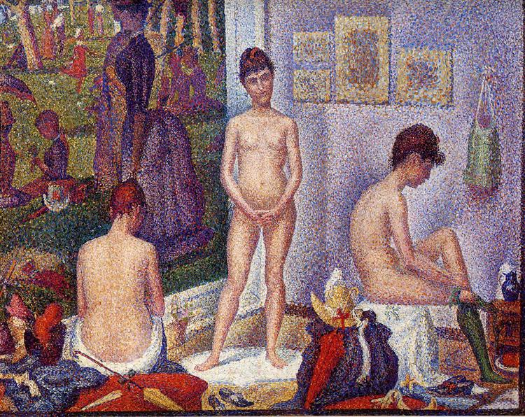 The Models, 1887 - 1888 - Georges Seurat