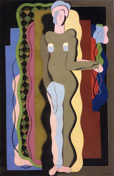 Nude with a Flower, 1928 - Georges Valmier