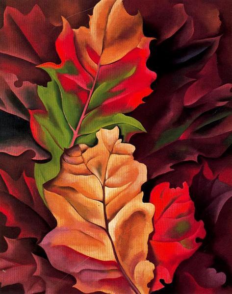 Autumn Leaves - Lake George, N.Y., 1924 - Georgia O'Keeffe