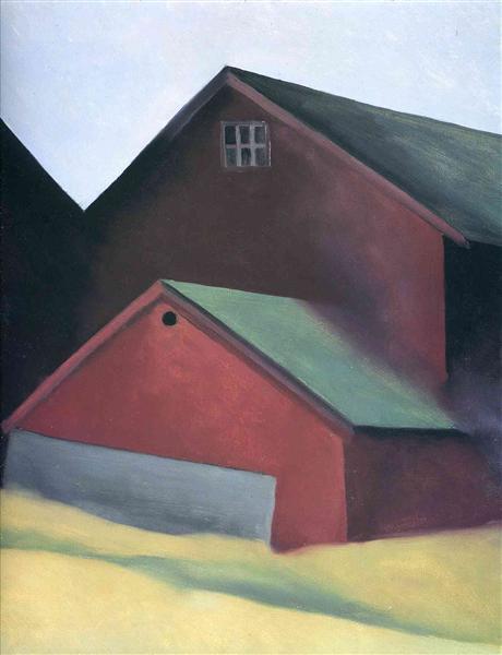 Ends Of Barns, 1922 - Georgia O'Keeffe