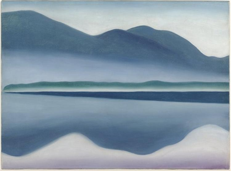 Lake George (formerly Reflection Seascape), 1922 - Джорджия О'Киф