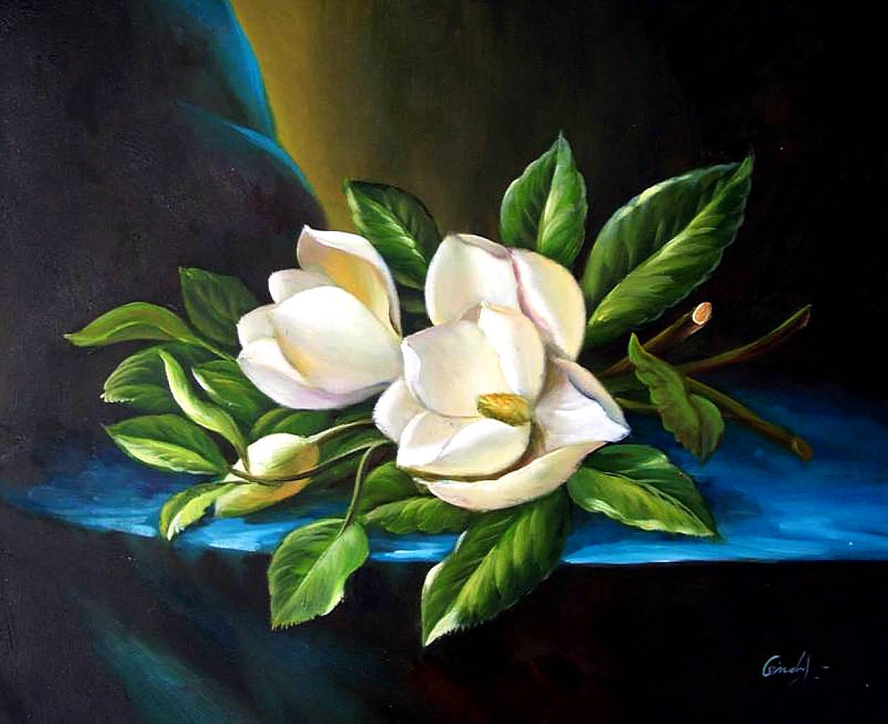 Modern Flowers (after Heade?) - Georgia OKeeffe