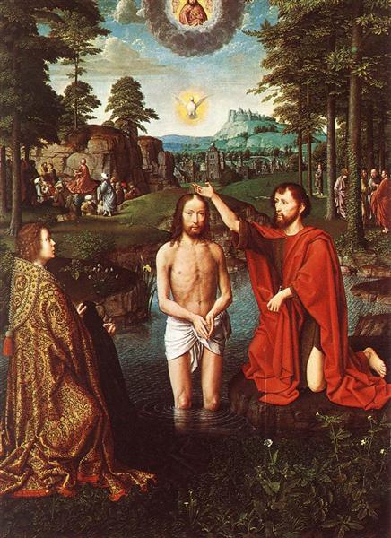 The Baptism of Christ (Central section of the triptych), c.1505 - Gerard David