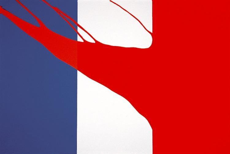 Drapeau française (Le Rouge), 1968 - Gerard Fromanger