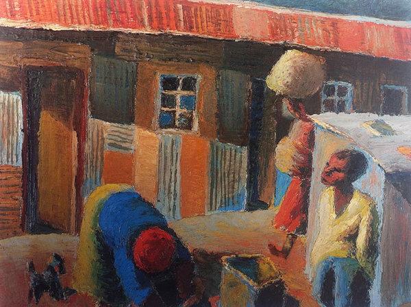 STREET SCENE, 1942 - Gerard Sekoto